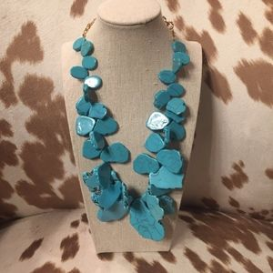 BaubleBar Seaglass Bib Necklace in Turquoise